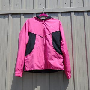 Nike Pink and Black Light Jacket